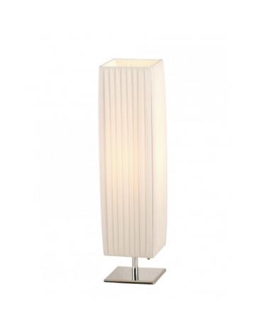 Table lamp 58cm white fabric shade E27 40W