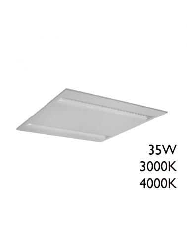 White finish aluminum recessed LED panel 35W 60x60cm + 50,000h