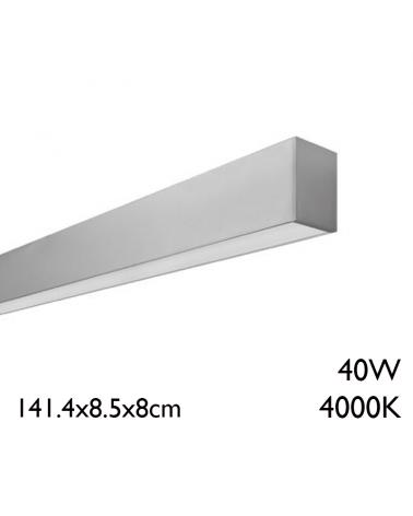 Aluminum surface LED panel 40W 141,4cm 4000K + 50,000h IP65