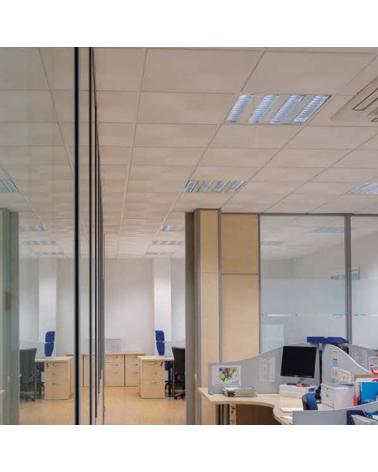 White finish steel recessed LED panel 86W 119x59,5cm + 50,000h