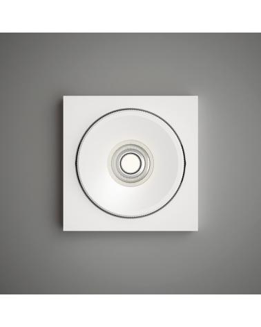 Downlight de diseño empotrable aluminio blanco 12cm LED 9,3W 2700K 965Lm