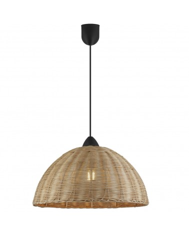 Lámpara semiesfera de techo 40cm de mimbre 60W E27