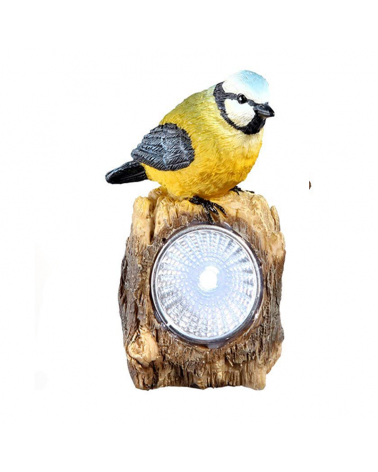 Plastic bird shaped solar lamp 9.6cm LED IP44