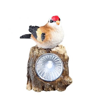 Lámpara solar forma pájaro plástico 9.6cm LED IP44