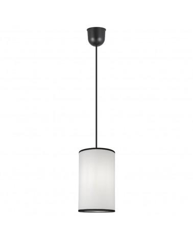 Lámpara de techo pantalla cilindro en tela 15cm elegante 60W E27