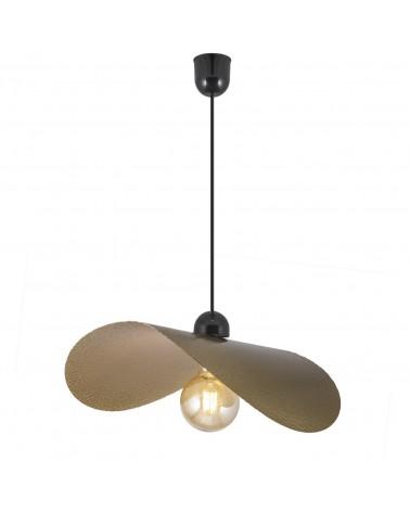 Lámpara de techo 75cm metal dorado ondulada 60W E27