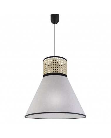 Ceiling lamp 40cm fabric lampshade with two finishes Nordic oriental style black details 60W E27