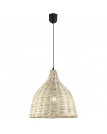 Ceiling lamp natural wicker lampshade 36cm 60W E27