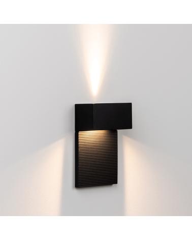 Aplique 11X15cm rectangular aluminio regulable 1xG9 luz superior e inferior