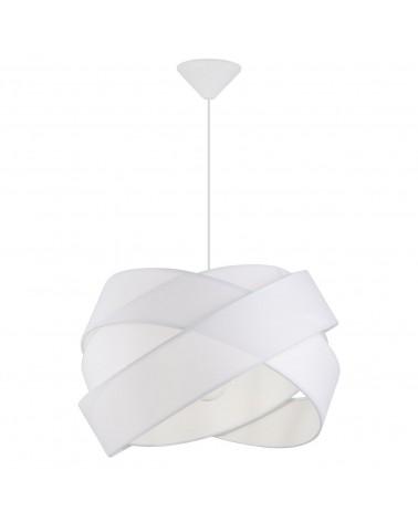 Lámpara de techo pantalla nudo bandas blancas 45cm 60W E27