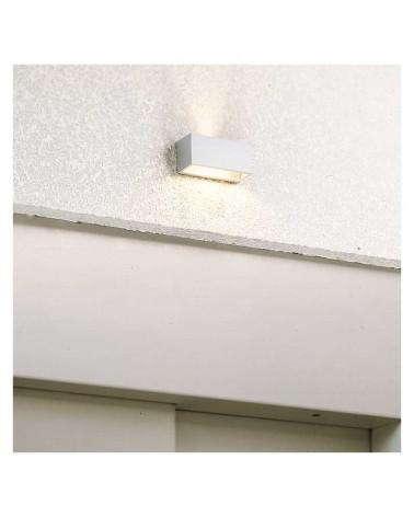 Aplique 11x5cm rectangular aluminio regulable 1xG9 luz superior e inferior