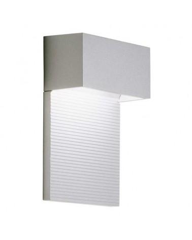 Aplique 11X15cm rectangular aluminio regulable 2x5W 2700K 500Lm luz superior e inferior