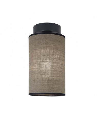 Ceiling lampshade cylinder in fabric 15cm elegant 60W E27 assorted finishes