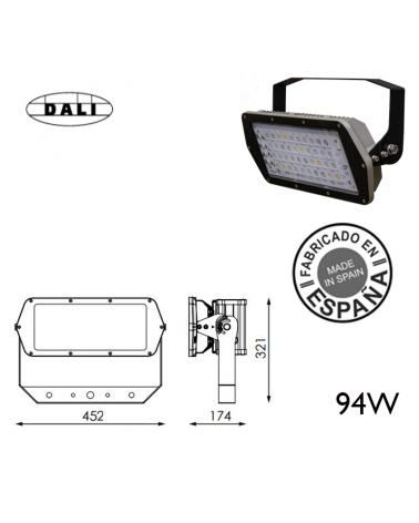 Proyector de exteriores industrial 94W 40 leds IP66 +50.000h