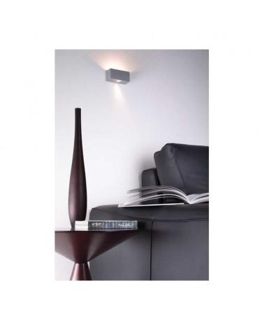 Aplique 11x5cm rectangular aluminio regulable 2x5W 2700K 500Lm luz superior e inferior