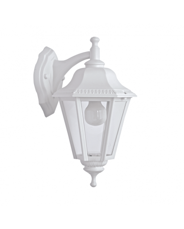 Classic outdoor wall light IP44 15W E27 high 40cm with head down decorated arm