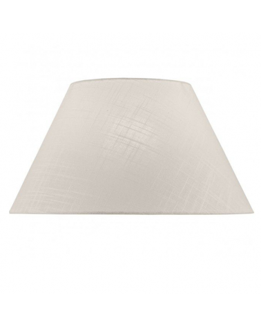 White finished linen lampshade 40x23cm E27