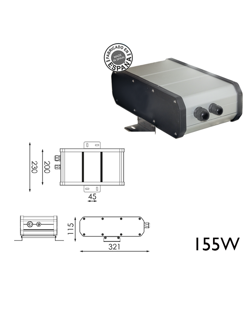 Remote box 155W 48WH DALI