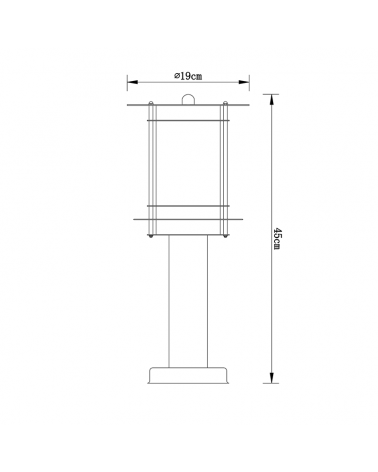 45 cm beacon IP44 stainless steel polycarbonate screen E27 60W