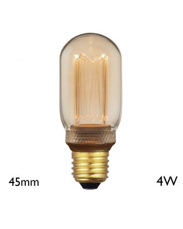 Vintage Amber Tubular Bulb 45 mm LED filaments E27 4W 2000K 200 Lm