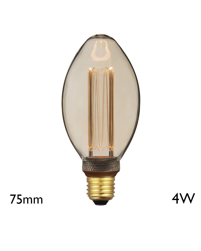 Vintage Amber Bulb 75 mm LED filaments E27 4W 2000K 200 Lm