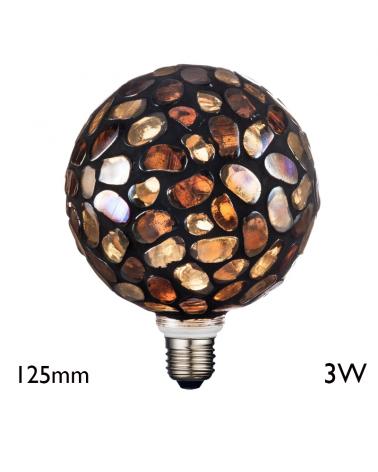 Mosaic Globe Bulb 125 mm LED E27 3W 2700K 50Lm