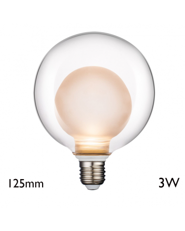 Clear Globe Bulb 125 mm LED E27 3W 2700K 300Lm