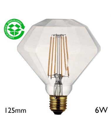 Light Rombo Claro 125 mm filaments 6W LED E27 2700K 850Lm