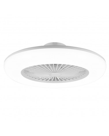 White finish acrylic ceiling fan 55cm LED 36W 3000-6000K