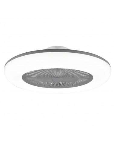 Ventilador plafón acrílico acabado gris 55cm LED 36W 3000-6000K
