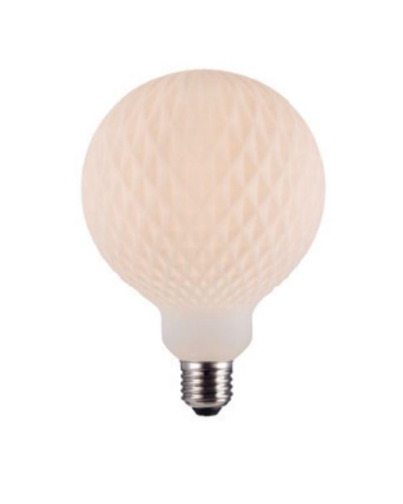 Vintage Striated Globe bulb ceramic effect 125 mm LED E27 4W 3000K 500Lm