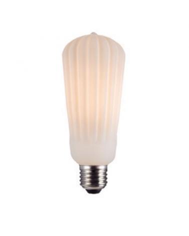 Vintage Torch Light Bulb Striated ceramic effect 64 mm LED E27 4W 3000K 500Lm