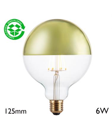 Bombilla Globo 125 mm Cúpula Verde filamentos LED E27 6W 2700K 750Lm