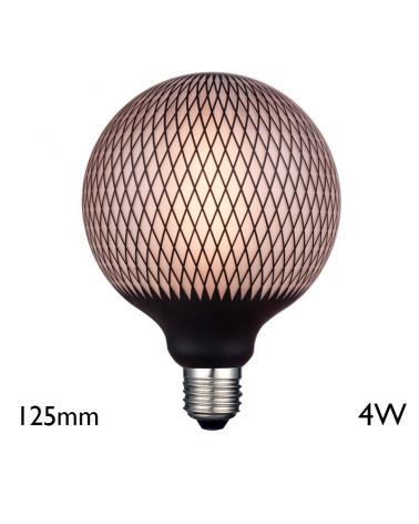 Bombilla Globo Rombos 125 mm LED E27 4W 2700K 180Lm