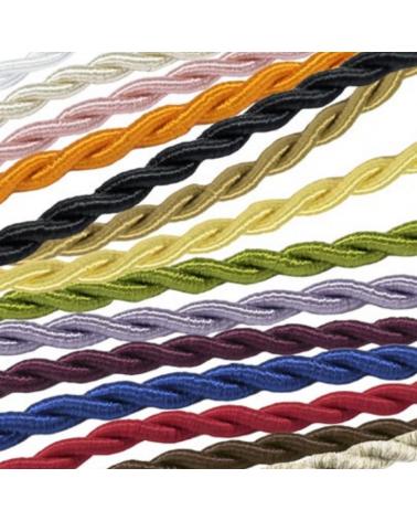 Rollo 25 metros cable tubular textil trenzado 5 mm tensión nominal 300/500V