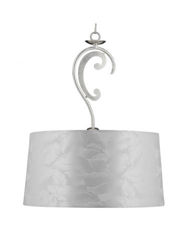 Lámpara de techo colgante 40cm acabado plata E27