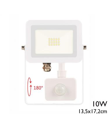 Proyector de exteriores 12,1cm 10W con sensor de movimiento