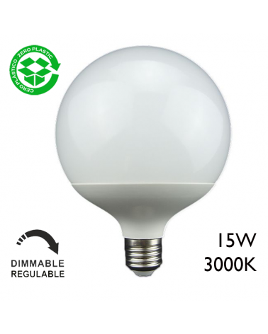 Globe Bulb LD 15W Dimmable 120mmm E27 Warm Light 3000K
