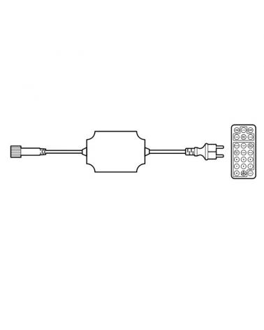 Controlador RGBWW con mando a distancia 2000 LEDS