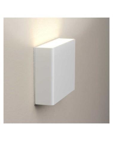 Aplique señalética personalizable 13cm rectangular aluminio regulable 1xG9 luz inferior