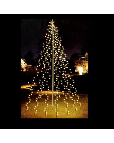 Cortina exterior para árboles 2 metros de alto con 120 Leds luz blanca cálida IP44