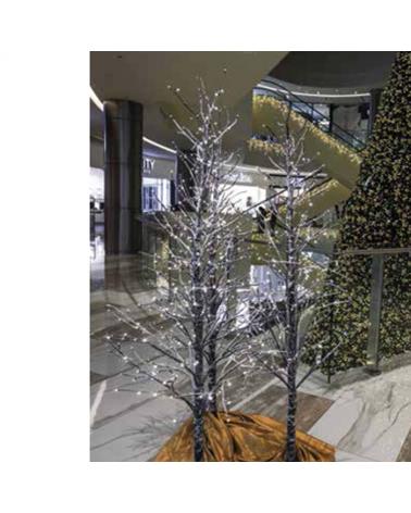 Árbol Nevado LED de 2,1m de luz cálida iluminado por 306 leds