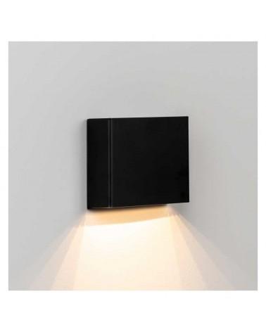 Aplique señalética personalizable 13cm rectangular aluminio regulable LED 4W 2700K 400Lm luz inferior