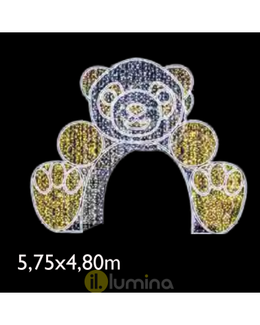Walkable 3D LED bear portal 5.75x4.80x1.50 meters IP65 low voltage 24V
