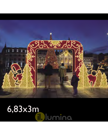 Portal with passable 3D LED photocall 6.83x3 meters IP44 low voltage 24V