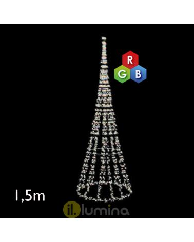 1.50 meter multi-color LED cone IP65 low voltage 24V 28W