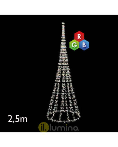 2.50 meter multi-color LED cone IP65 low voltage 24V 46W