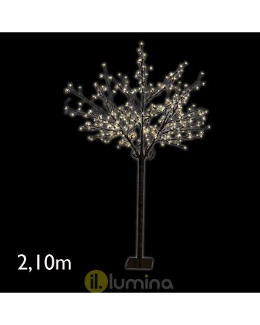 Árbol de Invierno LED de 2,10 metros con 400 leds de luz cálida IP44 baja tensión 24V