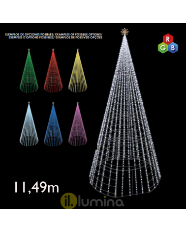 Giant Cone LED 11.49 meters with red, green and blue LEDs 230V 625W