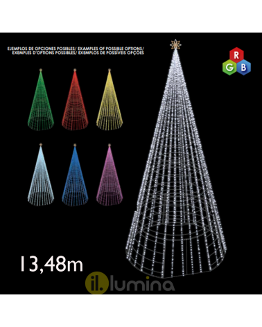 Giant Cone LED 13.48 meters with red, green and blue LEDs 230V 780W